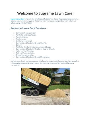 Welcome to Supreme Lawn Care!