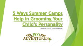5 Ways Summer Camps Help In Grooming Your Child's Personality