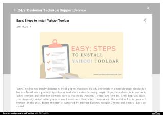 Easy: Steps to Install Yahoo! Toolbar
