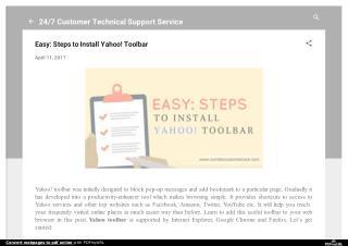 Easy: Steps to Install Yahoo! Toolbar