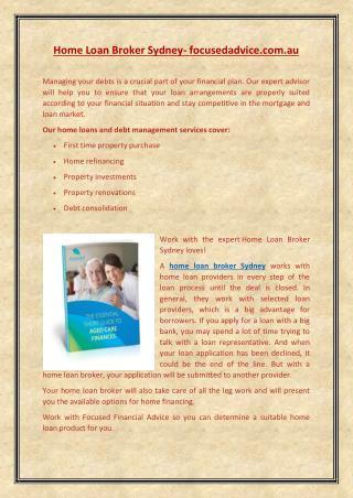 home loan broker sydney | focusedadvice