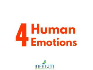 Four Human Emotion - Joy, Sadness, Anger and Fear is a significant part of our lives