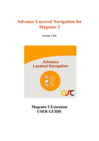 Advance Layered Navigation for Magento® 2