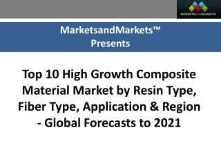 Top 10 High Growth Composite Material Market worth 105.26 Billion USD by 2021