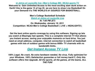 st Johns at Louisville live   Men's College BB   NCAA sports