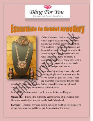 Essentials In Bridal Jewellery