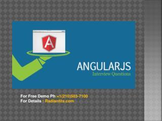 AngularJS Online training