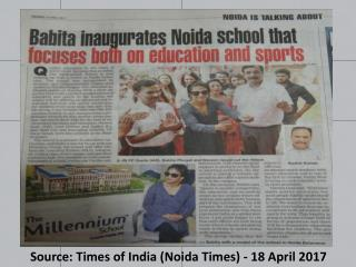 Gold Medalist Babita Inaugurates The Millennium School in Noida Extension