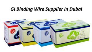 GI Binding Wire Supplier In Dubai
