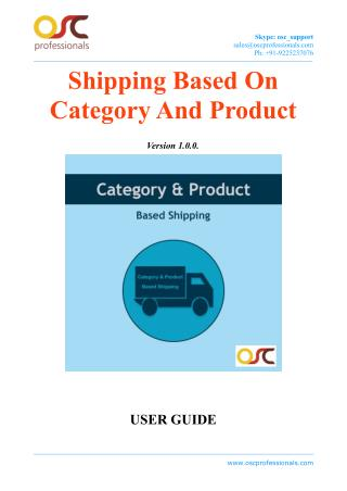 Category & Product Based Shipping Magento Extension