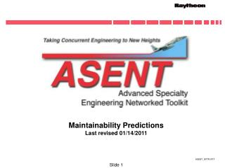 Maintainability Predictions Last revised 01