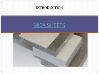 Axim Mica | Reliable Destination to buy Mica Sheets