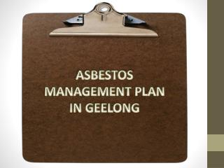 Asbestos Management Plan Geelong