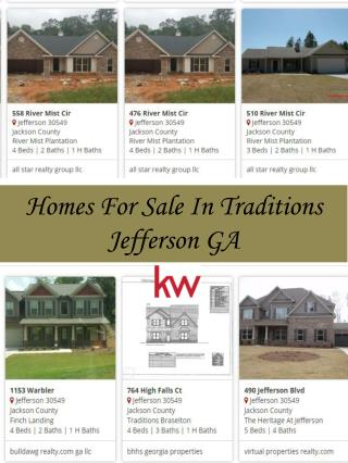 Homes For Sale In Traditions Jefferson GA