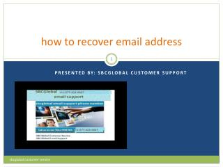 how to recover sbcglobal email address