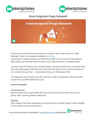 Gmail Integration Plugin Released!