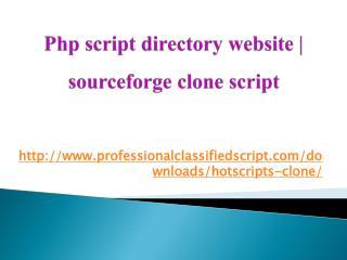 Php script directory website | sourceforge clone script