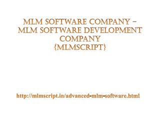 MLM Software Company - MLM Software Development Company