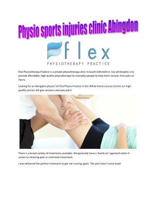 Physio sports injuries clinic Abingdon - Flex Physio Practice