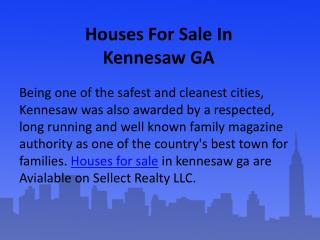 Houses For Sale In Kennesaw GA
