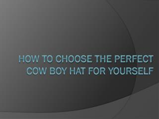 How to Choose the Perfect Cow Boy Hat for Yourself