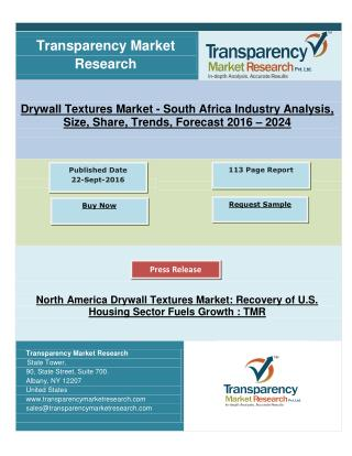 North America Drywall Textures Market: Recovery of U.S. Housing Sector Fuels Growth, says TMR