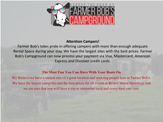 Tent camping | Farmer Bob Campground