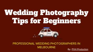 Job of a Wedding Photographer
