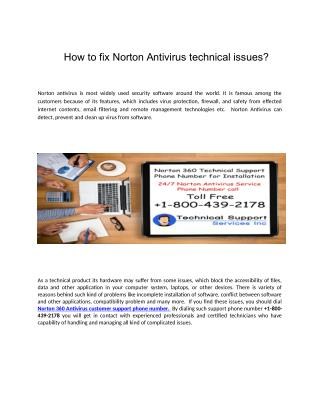 How to fix Norton Antivirus technical issues?