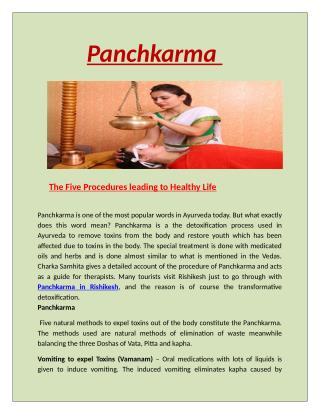 Panchkarma in rishikesh