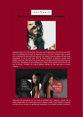 Buy Human Hair Extensions in Brooklyn