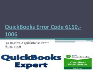 QuickBooks Error Code 6150,-1006
