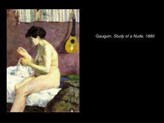 Gauguin, Study of a Nude, 1880
