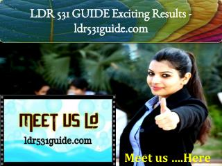 LDR 531 GUIDE Exciting Results -ldr531guide.com