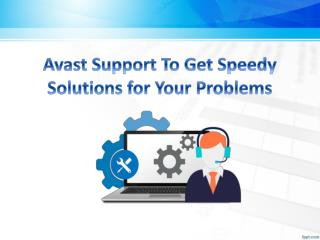 Avast Support To Get Speedy Solutions for Your Problems
