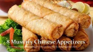 8 Must try Chinese appetizers