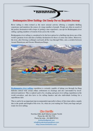 Brahmaputra River Rafting- Get Ready For an Exquisite Journey
