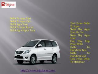 Delhi To Jaipur Cab