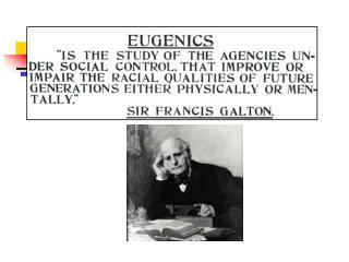 Eugenics   well-born