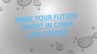 Make Your Future Bright In Cyber Law Course