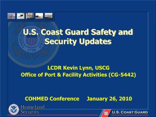 U.S. Coast Guard Safety and Security Updates