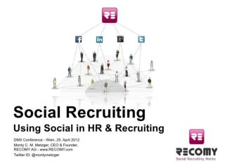 Using Social in HR & Recruiting