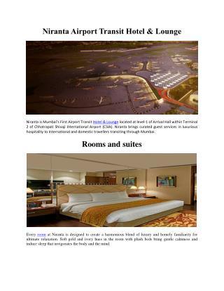 Niranta Airport Transit Hotel & Lounge