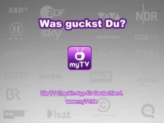 myTV.de Social TV Checkin App für Deutschland