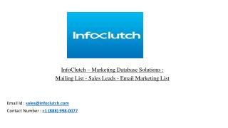 Mailing List - Sales Leads - Email Marketing List | InfoClutch