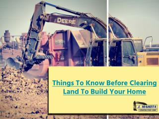 What You Need to Know Before Land Clearing to Build Your Home