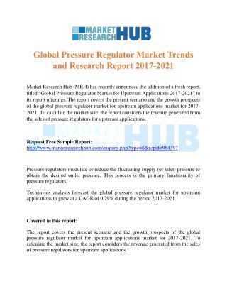 Global Pressure Regulator Market Trends and Research Report 2017-2021