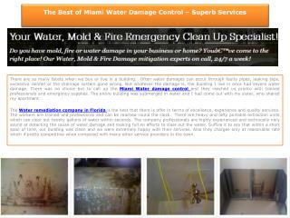 Miami Water Damage
