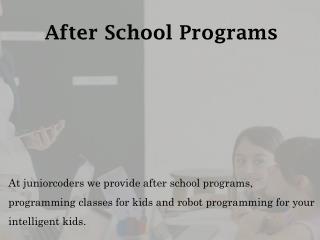 After School Programs - juniorcoders.ca