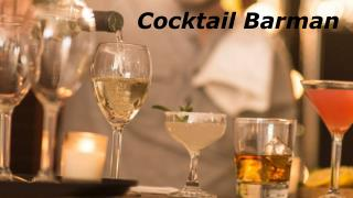 Cocktail Barman - bartender4you.co.uk